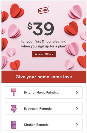 Práctico correo electrónico de San Valentín