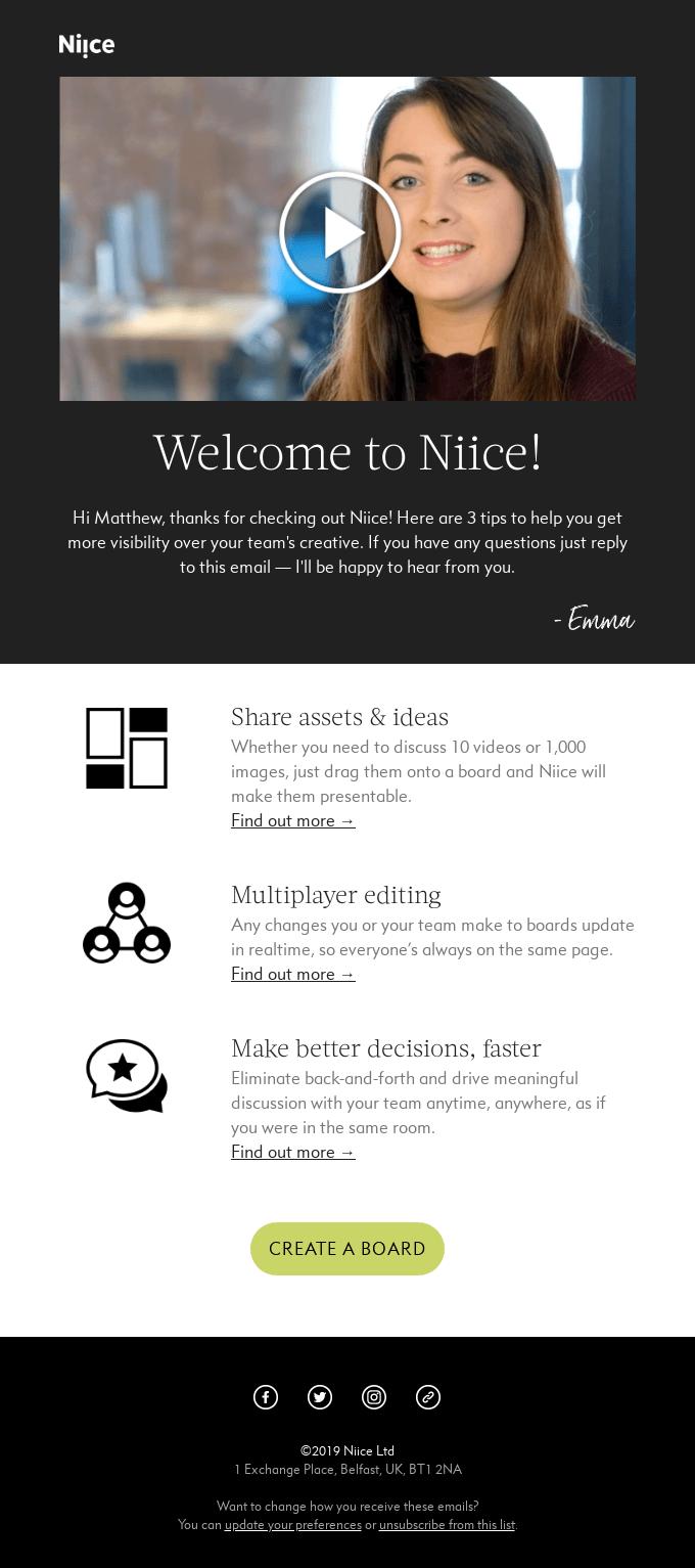 Video en marketing por correo electrónico