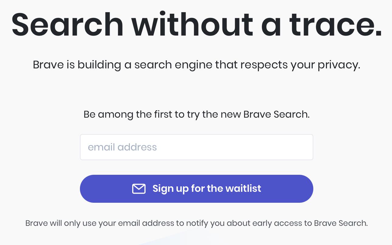 Brave Browser para lanzar su propio motor de búsqueda
