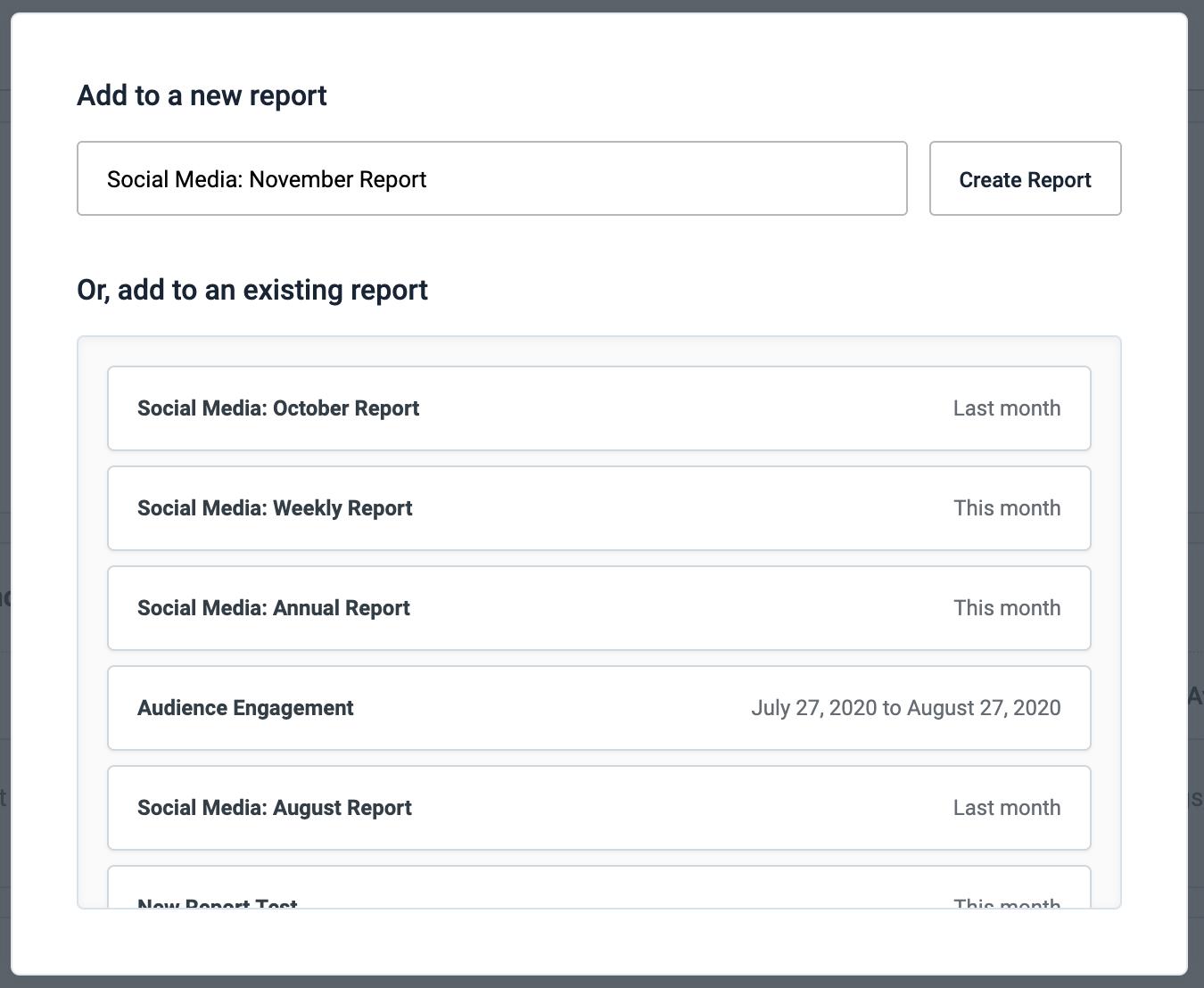 Cree un informe nuevo o agréguelo a un informe existente