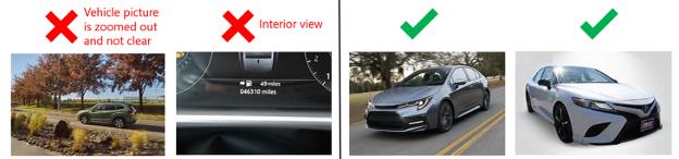 Imágenes de feeds automotrices buenas y malas