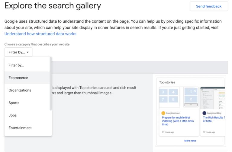 Explore la galería de búsqueda