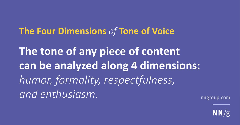 cuatro dimensiones del tono de voz