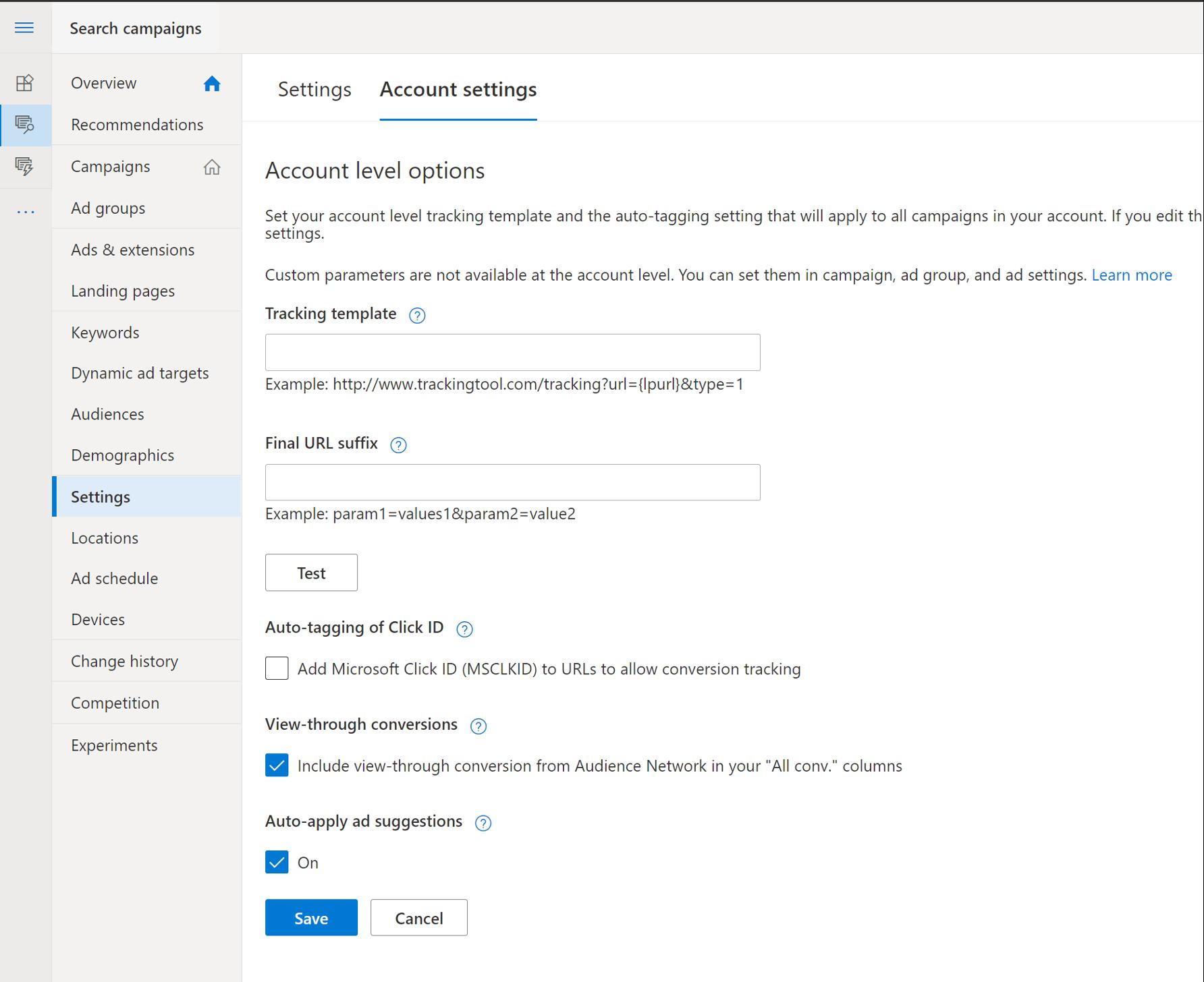 Optar por no recibir sugerencias de anuncios de aplicación automática de Microsoft