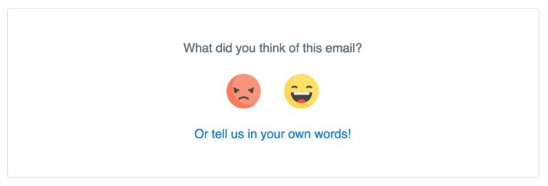 widget de sentimiento para la segmentación del correo electrónico