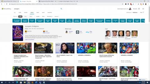 Búsqueda de videos de Microsoft Bing