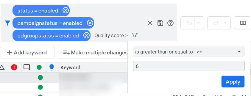Nivel de calidad 6 o superior: diez consejos para limpiar después de la adquisición de una cuenta de Google Ads