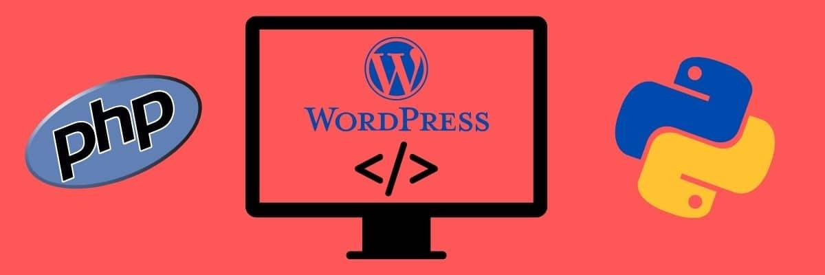 Compare cómo funcionan PHP y Python con WordPress