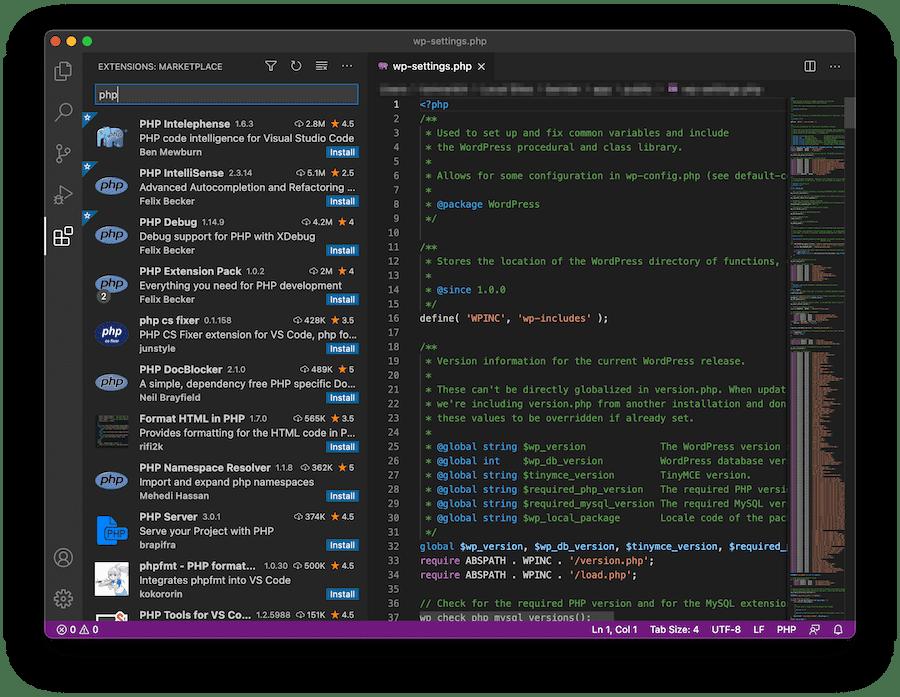 Biblioteca de extensiones de código de Visual Studio.