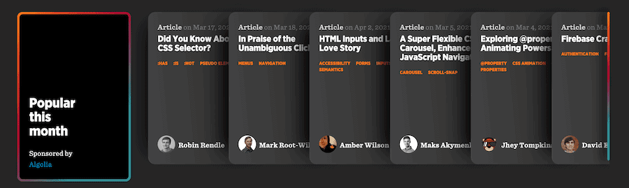 Página de inicio de consejos CSS.
