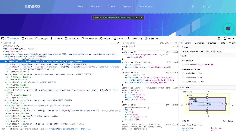 Herramientas de desarrollo para Firefox.