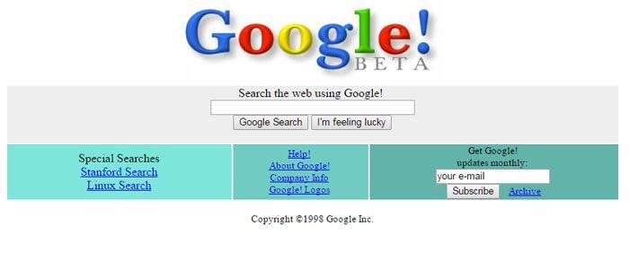 Los resultados de la imagen de Google en los 90