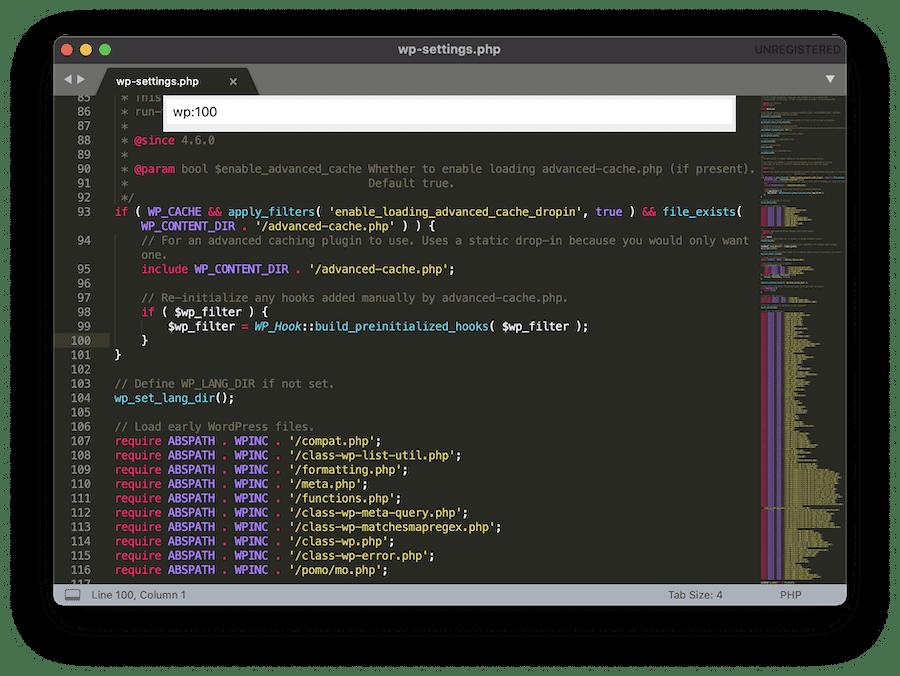Navega a cada función de Sublime Text.