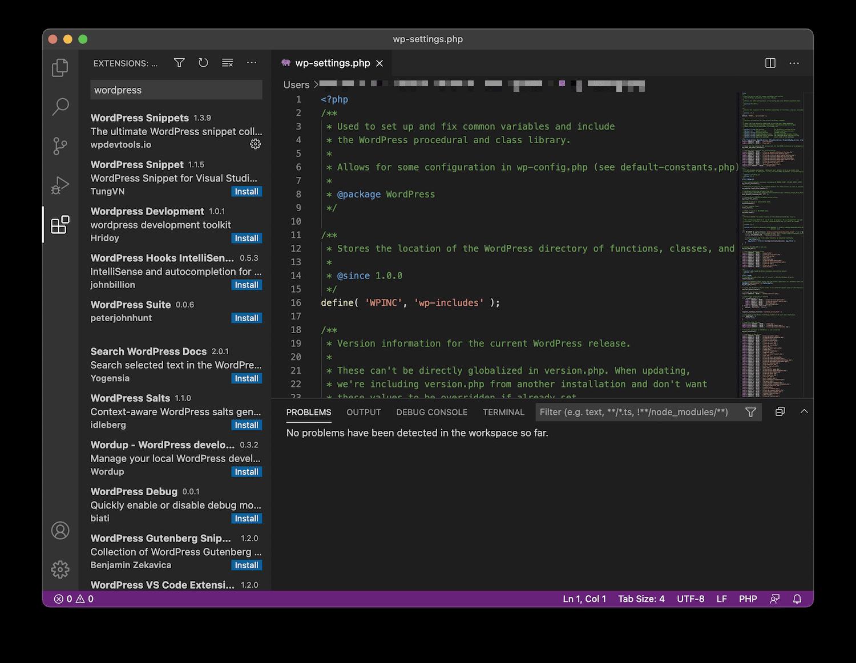 Editor de código de Visual Studio.