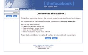 Ver páginas webs antiguas - Facebook año 2004