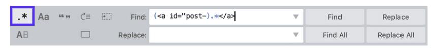 Busque y reemplace la función en el Sublime Text Editor.