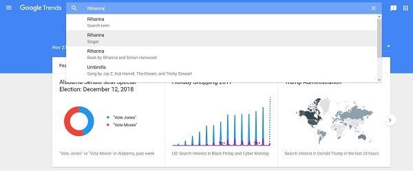 El motor de búsqueda de palabras clave de Tendencias de Google ahora muestra datos de búsqueda de YouTube