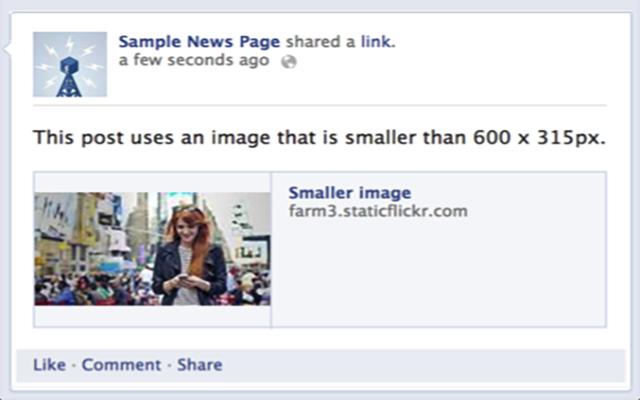 Comparte imágenes estándar de Facebook |  TopOnSeek