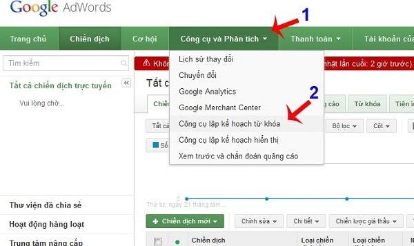 Aprenda a utilizar la herramienta de investigación de palabras clave del Planificador de palabras clave de Youtube