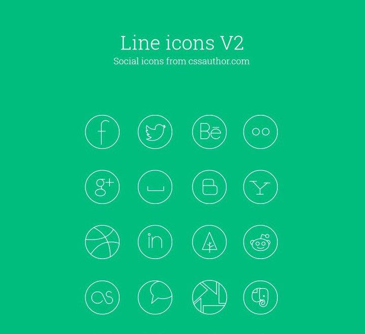 Iconos de línea delgada