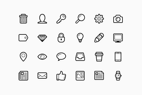 Icono de Vector libre de Linecons