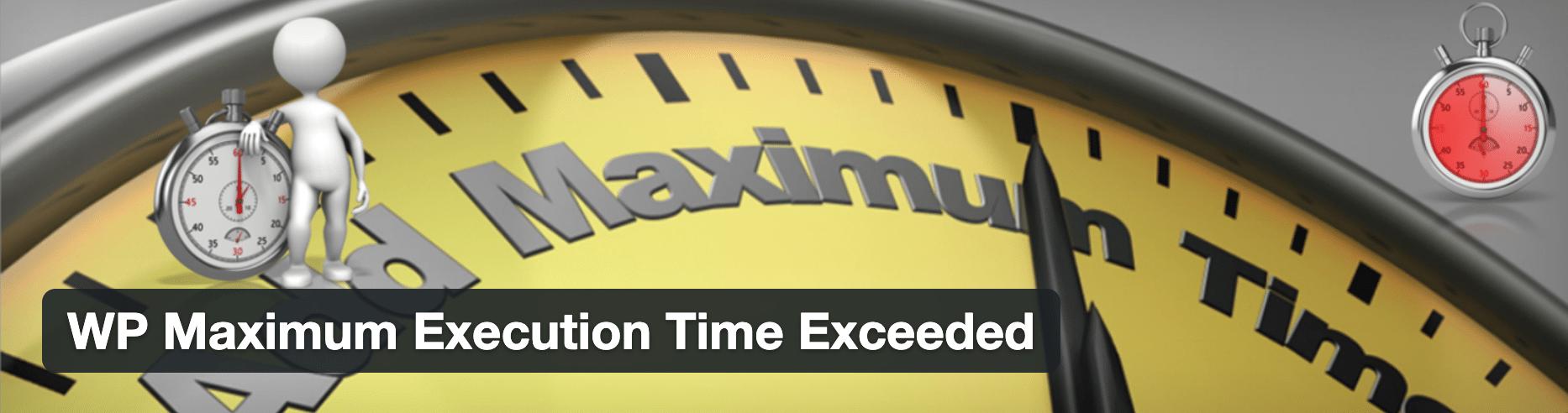 La extensión excede el tiempo máximo de WP