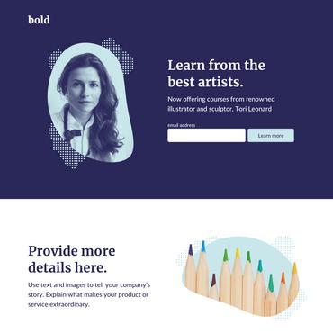 Bold es una plantilla ideal para libros electrónicos, boletines e incluso herramientas