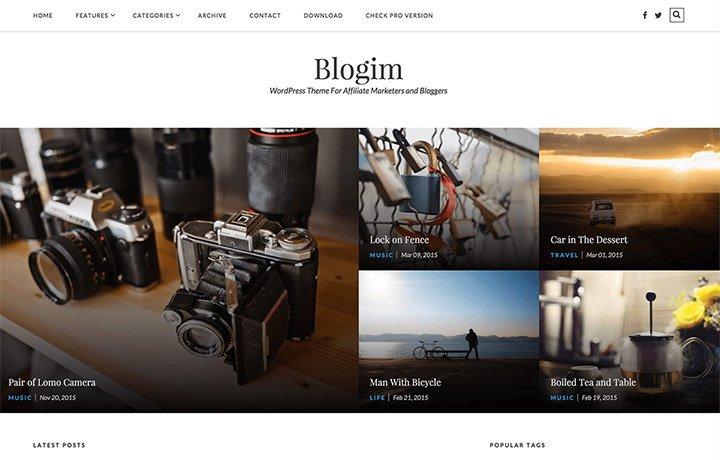 Tema gratuito de WordPress 2016-BlogIM