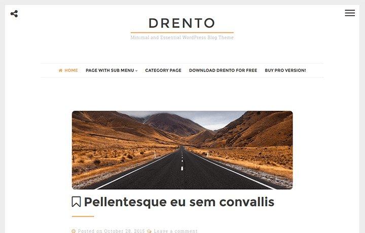 Tema gratuito de WordPress 2016-Drento