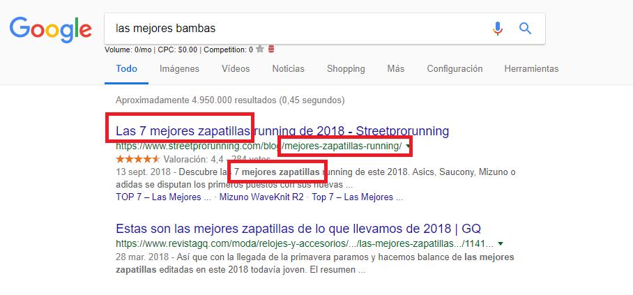 Optimización de motores de búsqueda de texto del artículo también escribir resultados