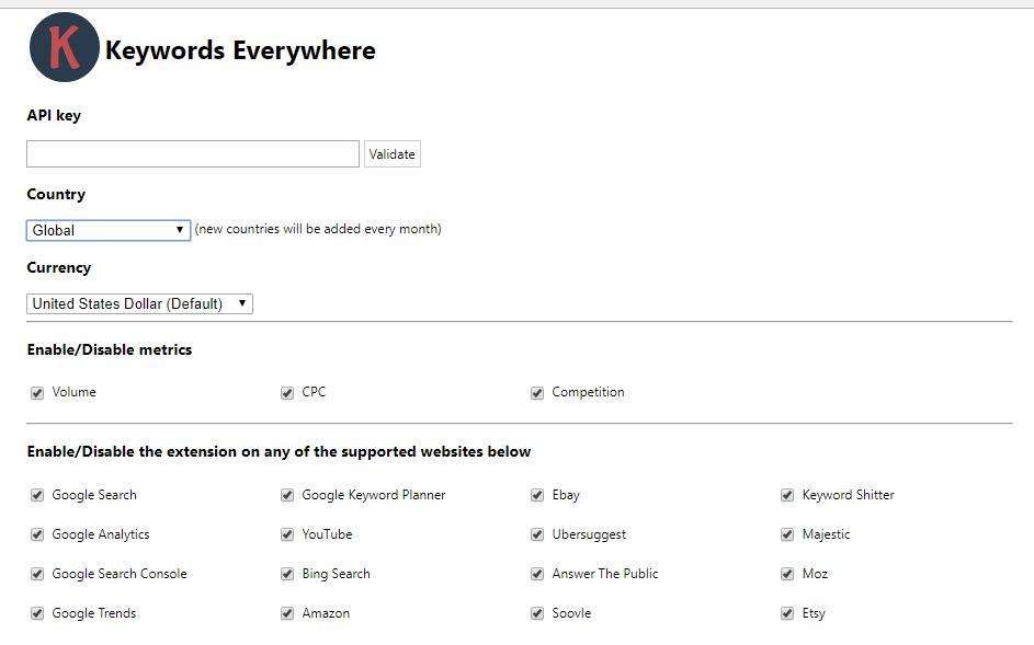 Configuración de palabras clave gratuita de Google Keyword Planner en cualquier lugar