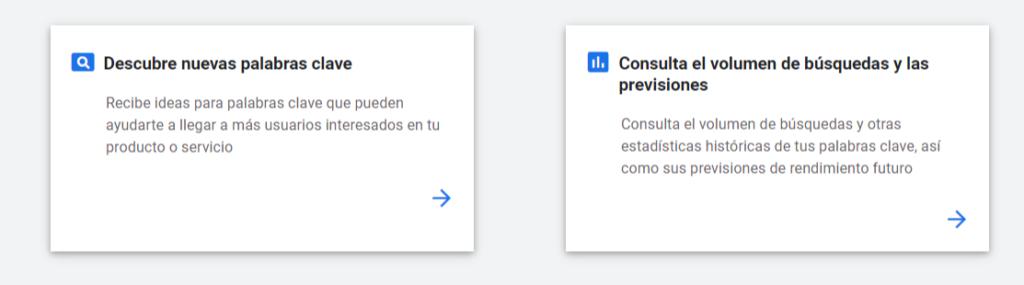 El Planificador de palabras clave de Google encuentra palabras gratis