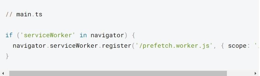 Este código descarga prefetch.worker.js y se ejecuta en segundo plano.