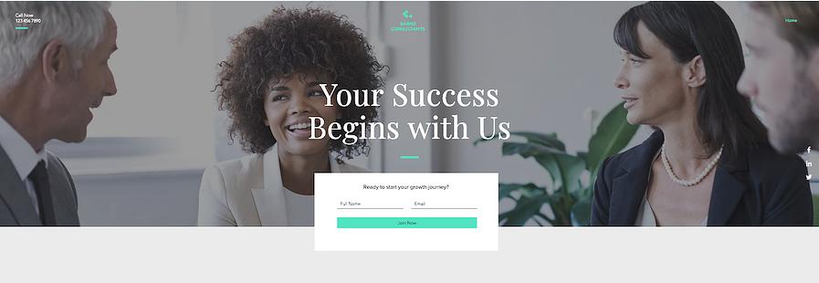 Página de inicio de producto B2B