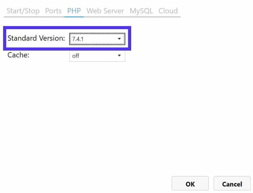 Puede intentar cambiar la versión de PHP utilizada en MAMP para resolver el problema con el servidor Apache que no se inicia.