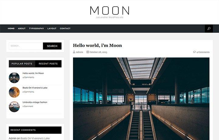 Tema gratuito de WordPress 2016 Moon