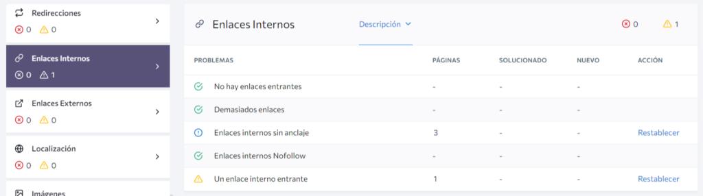 SEO optimiza los enlaces internos en los sitios web
