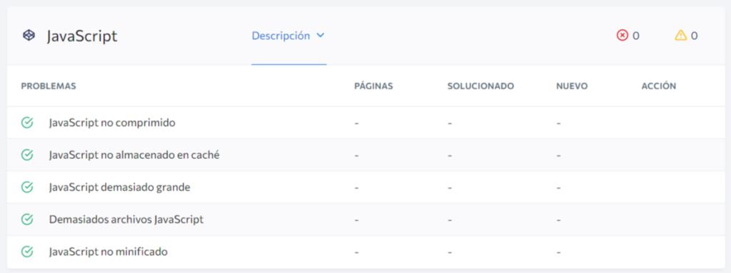Optimización del sitio web SEO javascript