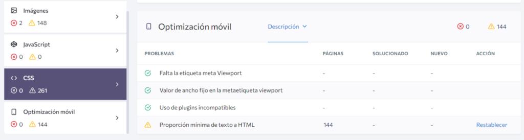 Optimización en la página SEO Optimización web móvil