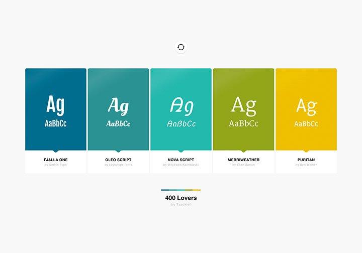 Inspiración de fuentes y colores