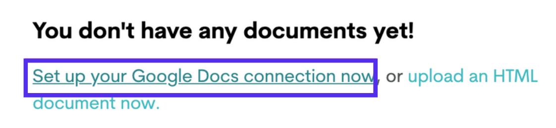 Configure una conexión de Google Docs a Wordable.