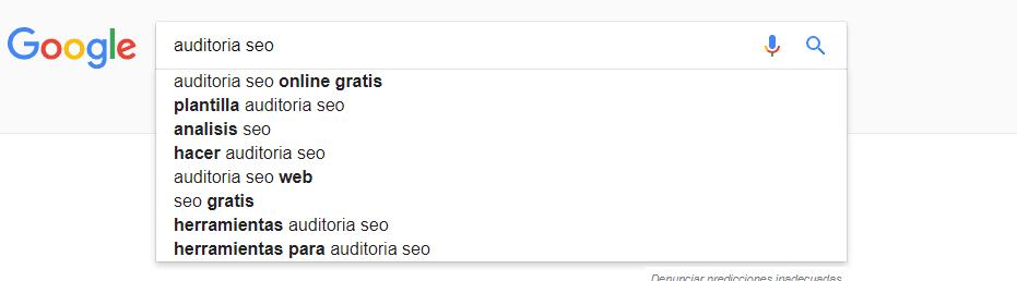 Creación de propuestas SEO para Google