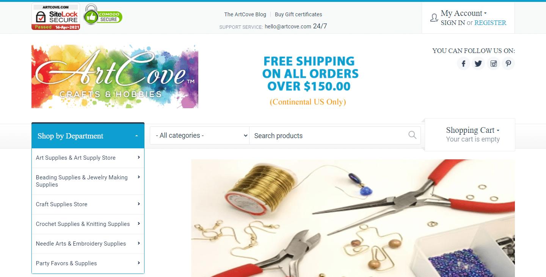 Sitio web de ArtCove.