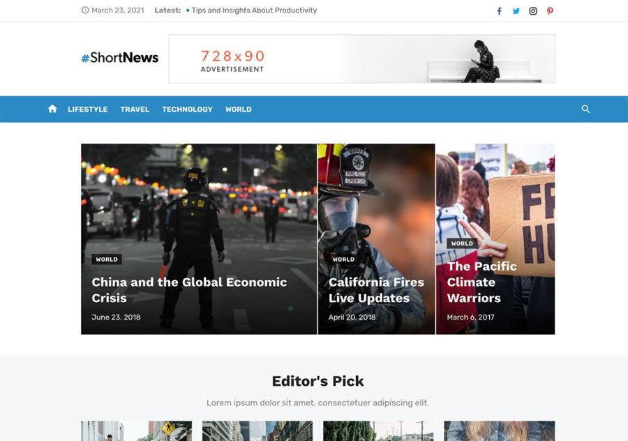 Tema de WordPress de noticias
