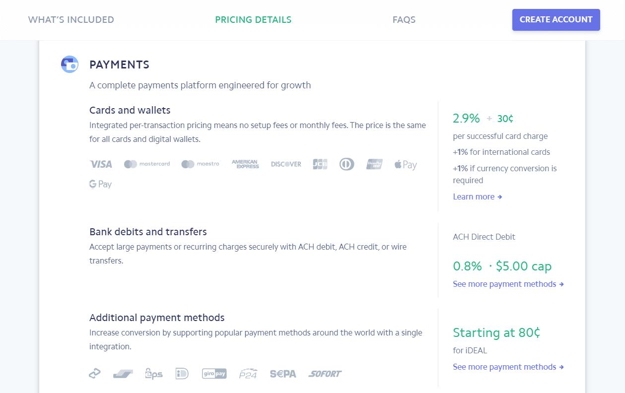 Seguimiento de la página de información de precios.