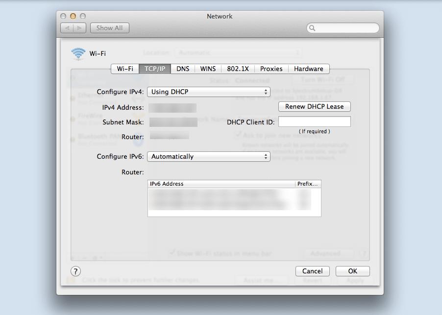 Encuentra tu dirección IP en macOS.