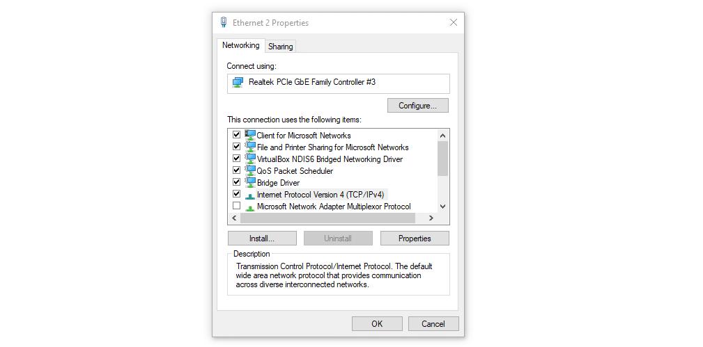 Utilice su configuración de IPv4 en Windows.