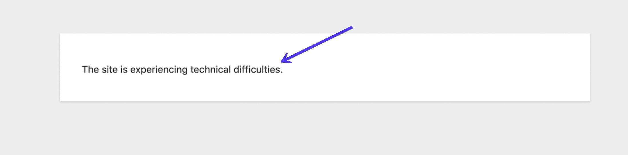 Mensaje de interfaz de WordPress max_execution_time