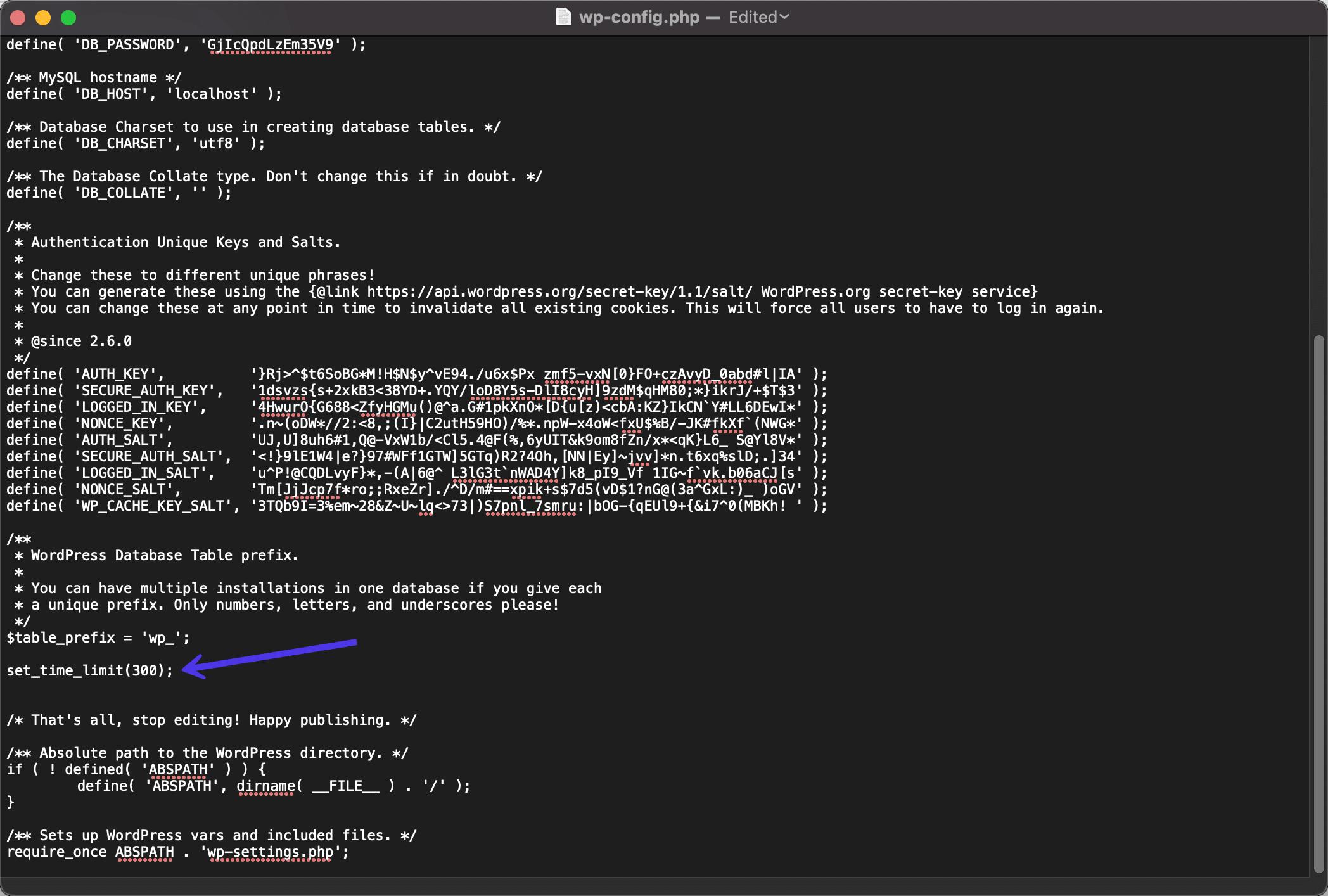 Nuevo límite de tiempo para WordPress max_execution_time