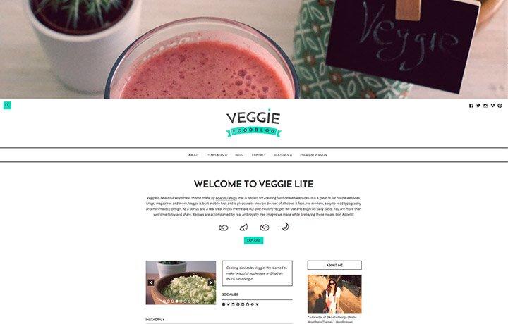 Tema gratuito de WordPress 2016-Veggie Lite